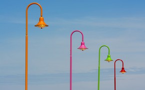 Picture the sky, color, lamps