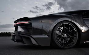 Picture wheel, Bugatti, the rear part, hypercar, Chiron, 2019, Super Sport 300+