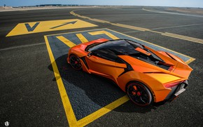 Picture Road, Machine, Asphalt, Orange, Rendering, Supercar, Concept Art, Sports car, SuperSport, Transport & Vehicles, Benoit …