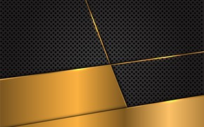 Picture line, background, gold, black, texture, background