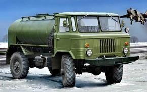 Picture Winter, fighter, four-wheel drive, tanker, USSR/Russia, GAZ-66
