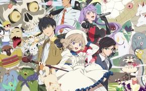 Picture fantasy, creatures, detective, characters, Kyokou Suiri, False conclusions, a classic detective story