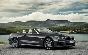 Picture clouds, BMW, Parking, convertible, xDrive, G14, 8-series, 2019, Eight, M850i Convertible