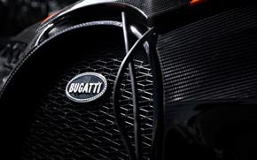 Picture Bugatti, emblem, hypercar, Chiron, 2019, grille, Super Sport 300+