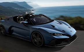 Picture road, supercar, 2018, V10, ItalDesign, Targa, 610 HP, 5.2 L., Zerouno Duerta
