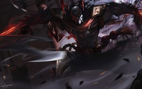 Picture The game, League of Legends, LOL, Character, Zed, Blood Moon, Game Art, Fengwei Cui, by …