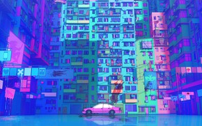Picture Figure, Future, Machine, Style, The building, Car, Art, Art, Illustration, Transport, Architecture, Cyberpunk, Nick Sullo, …
