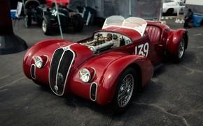 Picture Red, Sportcar, 1939, Spider Corsa, Alfa Romeo 6C 2500 SS