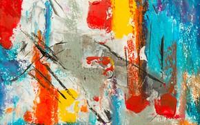 Picture line, paint, strokes, spot, canvas, strokes