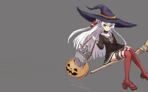 Picture girl, sexy, halloween, long hair, anime, beautiful, pretty, attractive, handsome, white hair, kantai collection, kancolle, …
