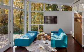 Picture room, interior, living room, serenity, panoramic Windows, by Studio Twenty Seven Architecture, open-ambiance, Greenery outside, …