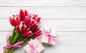 Picture holiday, bouquet, gifts