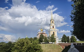 Picture summer, the sky, clouds, Church, temple, architecture
