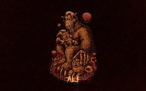 Picture Minimalism, Figure, Art, Art, Helix, Character, ALF, Alf, by Bogdan Timchenko, Bogdan Timchenko