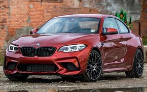 Picture car, machine, wall, BMW, sedan, front, wheel, orange, coupe, M2, BMW M2, BMW M2 Coupe ...