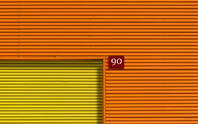 Picture orange, yellow, plate, room 90