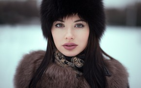 Picture winter, look, Girl, Andrey Firsov