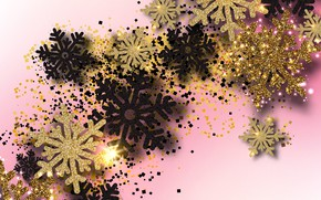 Picture snowflakes, holiday, New year