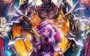 Picture the game, monster, anime, art, girl, Shingeki no Bahamut