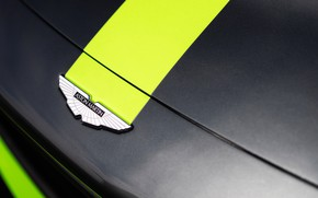 Picture Aston Martin, Vantage, emblem, logo, GT3, 2018