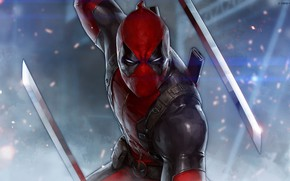 Picture Figure, Sword, Mask, Swords, Art, Art, Deadpool, Marvel, Deadpool, Comics, MARVEL, Creatures, MARVEL Comics, JeeHyung …