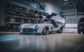 Picture Auto, Machine, Mercedes, Car, Render, Supercar, 300SL, Retro, Supercar, Sports car, Sportcar, Mercedes-Benz 300SL, Khyzyl …