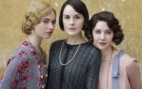 Picture the series, characters, actress, Downton Abbey, Downton Abbey