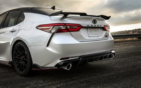 Picture white, Toyota, sedan, the rear part, TRD, Camry, 2020