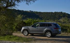 Picture Volkswagen, Parking, roadside, Atlas, 2017, dark gray