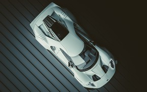 Picture Ford, Auto, White, Machine, Ford GT, The view from the top, Supercar, Rendering, Supercar, Transport …
