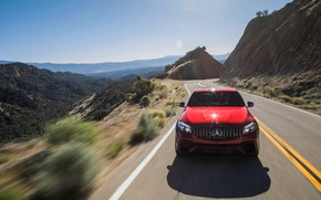 Picture Mercedes-Benz, front view, AMG, Coupe, 2018, crossover, GLC, 63S, 4MATIC+