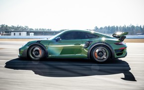 Picture speed, 911, Porsche, side view, Turbo S, TechArt, 2019, GT Street RS