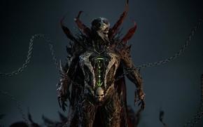 Picture demon, spawn, suit, chains, spawn, hellspawn, necroplasma