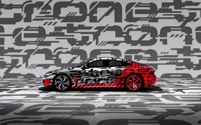 Picture Audi, coupe, profile, 2018, e-tron GT Concept, the four-door