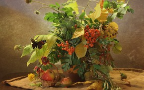 Picture autumn, berries, still life
