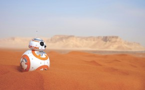 Picture sand, desert, robot, star wars, Android, BB-8