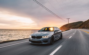 Picture BMW, Sunset, Silver, F90