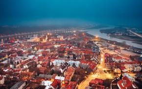 Picture misty, Lithuania, city, Kaunas