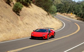 Picture Lamborghini, supercar, Spyder, 2018, Performante, Huracan, North America version