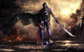 Picture Rain, Sword, Hunter, Child, Little Girl, Destiny 2