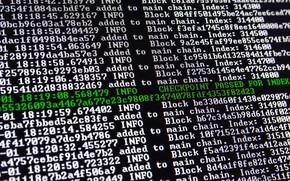 Picture computer, macro, pixel, network, letters, language