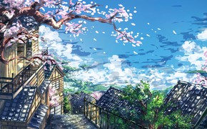 Picture the city, figure, Sakura
