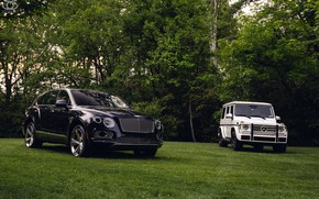 Picture Bentley, Mercedes, Black, White, G500, W463, VAG, Bentayga