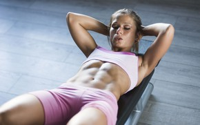 Picture figure, fitness, press, pose, the gym, training, workout, fitness, gym, training, abs, athletic, hard work