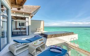 Picture the ocean, Villa, interior, pool, terrace, Maldives, Mövenpick Resort, Kuredhivaru