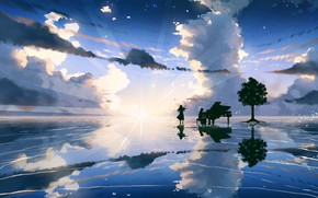 Picture the sky, music, piano, two
