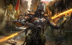 Picture Warrior, Art, Russell Dongjun Lu, Chinatown Warrior