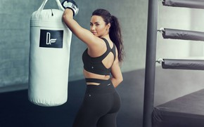 Picture look, pose, makeup, figure, actress, Boxing, pear, singer, the ring, boxing, Demi Lovato, Demi Lovato, …