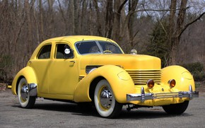 Picture machine, car, Cord, 1937 Cord 812 Supercharged Beverly Sedan Bustlback