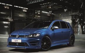 Picture Volkswagen, Car, Blue, Golf